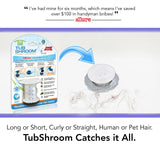 TubShroom® (Clear) The Hair Catcher That Prevents Clogged Tub Drains Drain Protector Juka Innovations Corporation