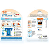 SinkShroom™ (Blue) The Hair Catcher That Prevents Clogged Bathroom Sink Drains - TubShroom - 2
