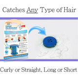 SinkShroom® (Blue) The Hair Catcher That Prevents Clogged Bathroom Sink Drains Drain Protector Juka Innovations Corporation