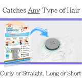SinkShroom® (Gray) The Hair Catcher That Prevents Clogged Bathroom Sink Drains Drain Protector Juka Innovations Corporation