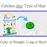 SinkShroom® (Green) The Hair Catcher That Prevents Clogged Bathroom Sink Drains Drain Protector Juka Innovations Corporation