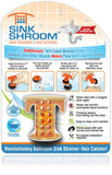 SinkShroom® (Orange) The Hair Catcher That Prevents Clogged Bathroom Sink Drains Drain Protector Juka Innovations Corporation