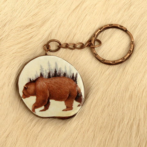 Bear Forest Keychain