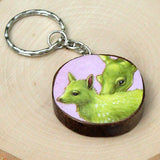 Baby and Mama Deer Keychain