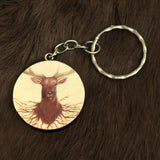 Deer Roots Keychain