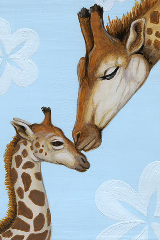 Giraffe Mother and Fawn