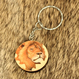 Puzzled Lion Keychain