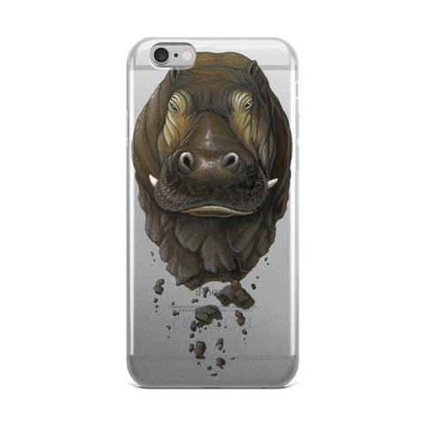 Crumbling Hippo iPhone Case (6-X)