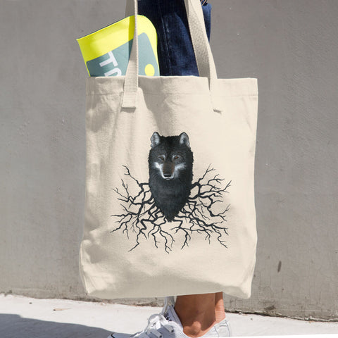 Wolf Roots Cotton Tote Bag