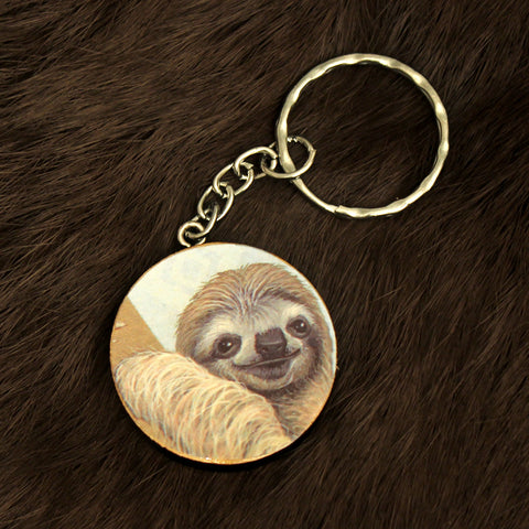 Blue Sloth Keychain