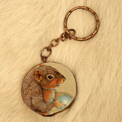 Spirit Squirrel Keychain