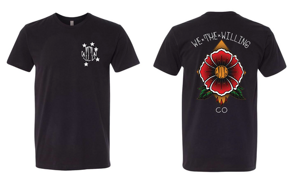 Poppy Flower Logo Tee
