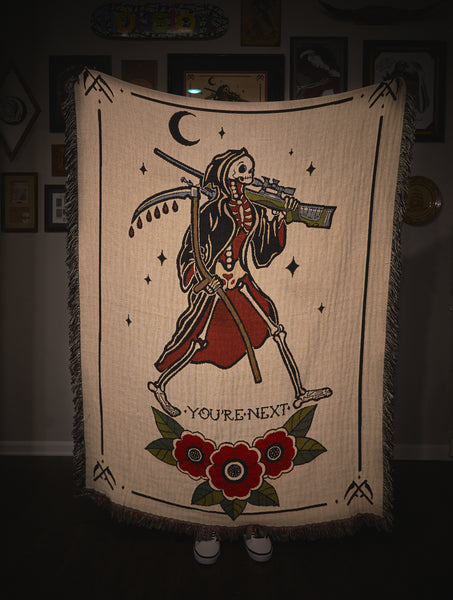 The Reaper Throw Blanket