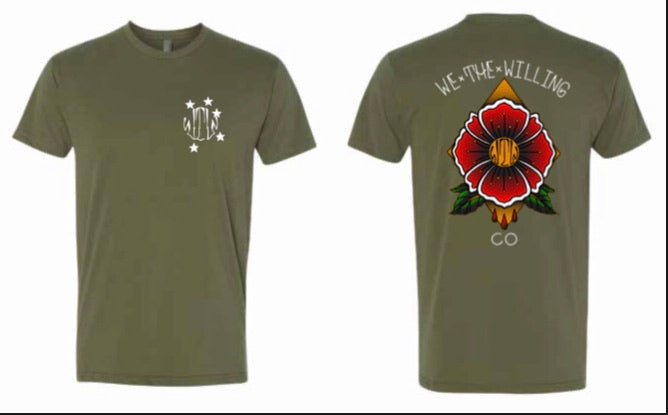 OD Green Poppy Flower Tee