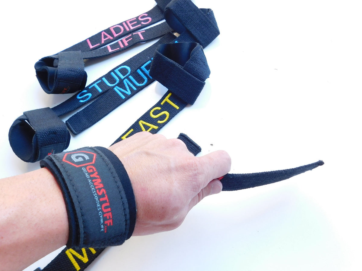 GYMSTUFF CUSTOM LIFTING STRAPS