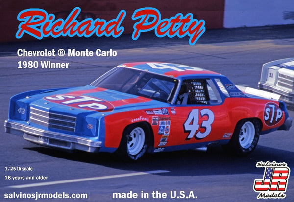 1/25 SALVINOS JR MODELS RICHARD PETTY CHEVROLET MONTE CARLO 1980 WINNER RPMC41980N