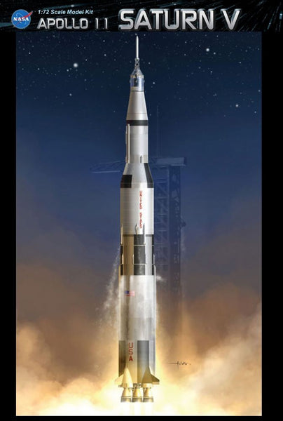 1/72 DRAGON APOLLO 11 SATURN V PLASTIC MODEL KIT DR11017