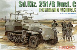 1/35 DRAGON SDKFZ 251/6 AUSF C COMMAND VEHICLE DR6206