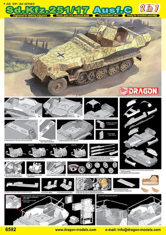 1/35 DRAGON SD.KFZ 251/17 AUSF C DR6592