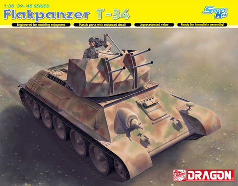 DRAGON 1/35 FLAKPANZER T34 DR6599