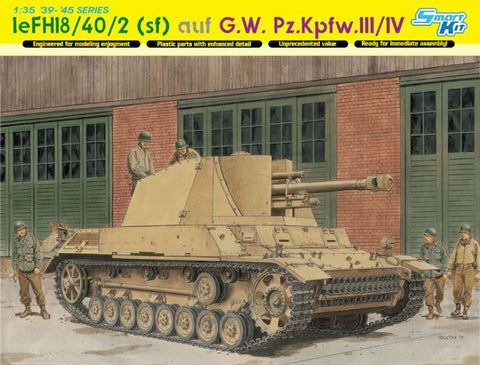 1/35 DRAGON LEFH18/40/2 (SFL) AUF G.W.PZ.KPFW III/IV SMART KIT DR6710