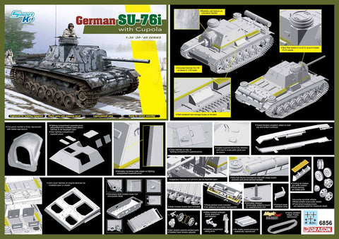 1/35 DRAGON SU-76I WITH CUPOLA DR6856