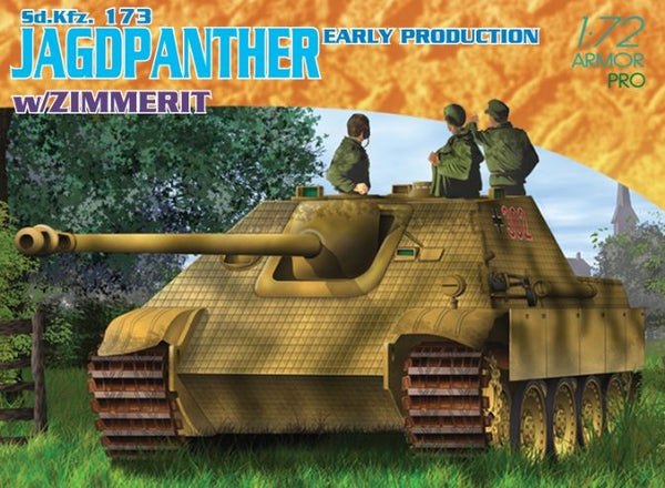 1/72 DRAGON SD.KFZ. 173 JAGDPANTHER EARLY PRODUCTION W/ZIMMERIT DR7241