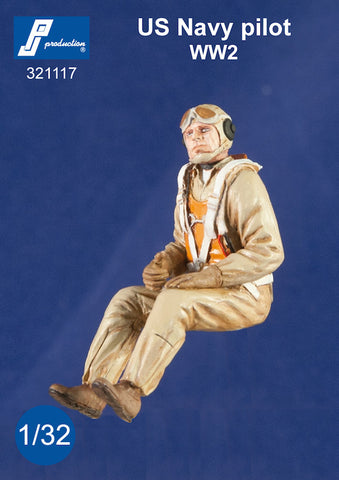 1/32 PJ PRODUCTIONS US NAVY PILOT SEATED WW2