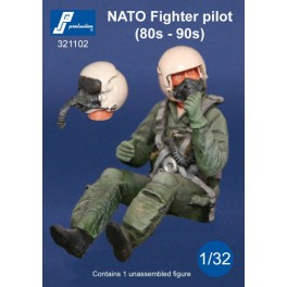 1/32 PJ PRODUCTIONS NATO PILOT (80s - 90s) SEATED