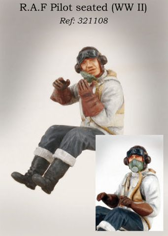 1/32 PJ PRODUCTIONS RAF PILOT SEATED IN AIRCRAFT