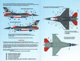 "1/48 CARACAL MODELS ""LONE STAR GUNFIGHTERS"" F-16C DECAL SET  CD48009"