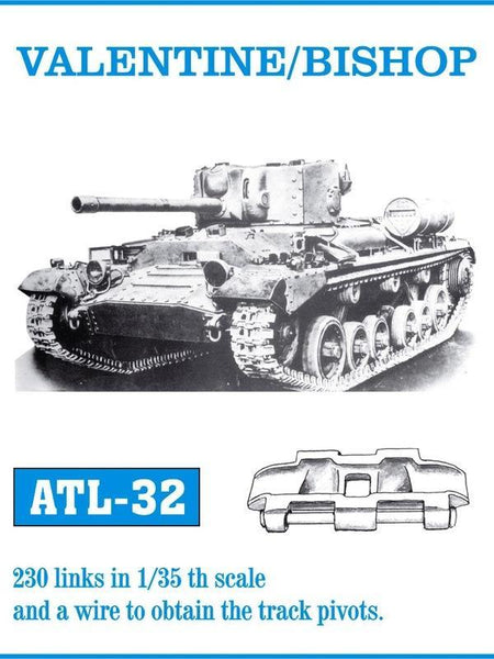1/35 FRIUL  VALENTINE/BISHOP/ARCHER SELF PROPELLED GUN METAL TRACKS  ATL-32