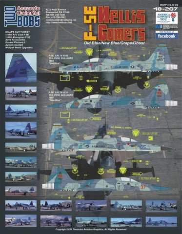 1/48 TWO BOBS NELLIS GOMERS AGGRESOR SCHEMES DECALS 48-207