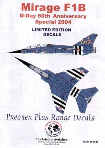 1/48 MODEL ALLIANCE MIRAGE F1B D-DAY 60TH ANNIVERSARY SCHEME 2004 MAS489009