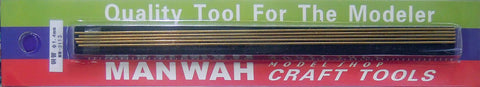 1.4MM X 200MM MANWAH BRASS ROD (5 PER PACK) MW-3113