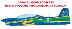 "1/48 CARACAL DECALS EMBRAER EMB-312 TUCANO ""BRAZILIAN AIR FORCE DEMONSTRATION TEAM"" CD48133"