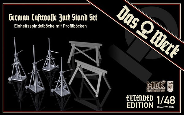 1/48 DAS WERK GERMAN LUFTWAFFE JACK STAND SET EXTENDED EDITION DW4802