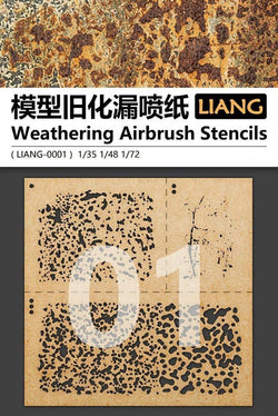 LIANG WEATHERING AIRBRUSH STENCILS LIANG-00001