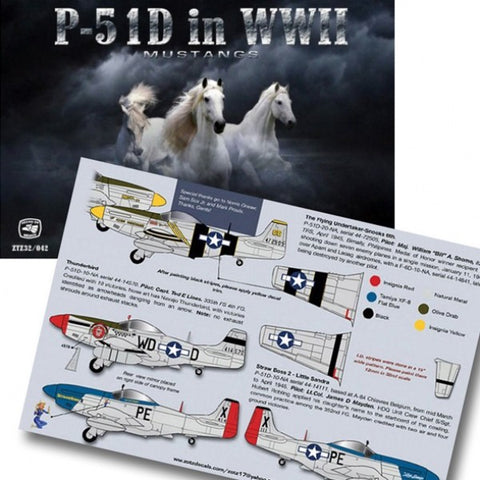1/32 ZOTZ DECALS NORTH AMERICAN P-51D MUSTANG IN WW2 ZTZ32042