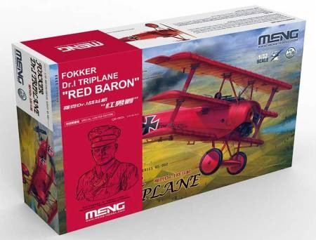 "1/32 MENG FOKKER DR.1 TRIPLANE LIMITED EDITION WITH ""RED BARON"" BUST QS-002B"