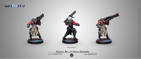 INFINITY KURGATS , REGIMENT OF ASSUALT ENGINEERS (AUTOCANNON) 280694-0750