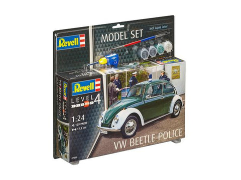 "1/24 REVELL VW BEETLE ""POLICE"" MODEL SET   67035"