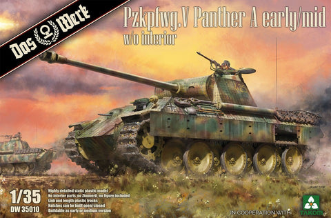 1/35 DAS WERK PZKPFW. V PANTHER A EARLY/MID NO INTERIOR DWK35009