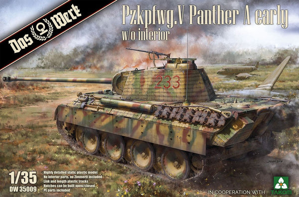 1/35 DAS WERK PZKPFWG.V PANTHER A EARLY NO INTERIOR DW35009