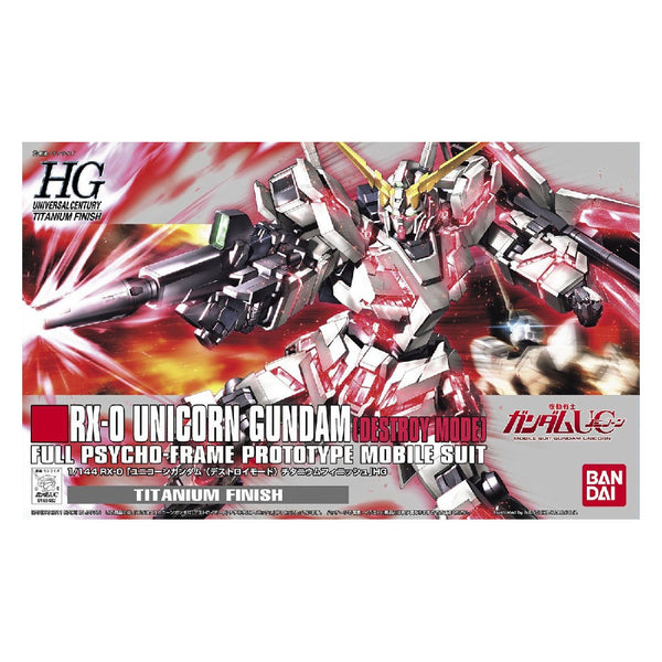 1/144 BANDAI RX-0 UNICORN GUNDAM (DESTROY MODE) FULL PSYCHO FRAME MOBILE SUIT TITANIUM FINISH