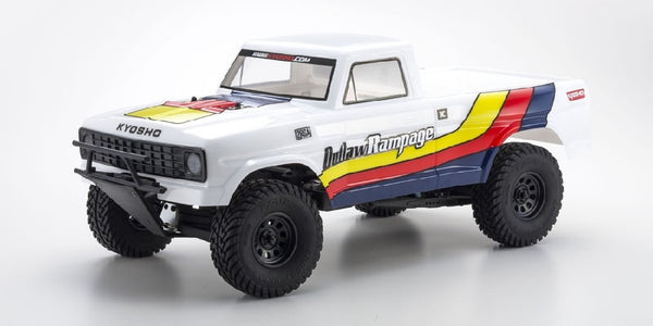 KYOSHO 1/10 ELECTRIC OUTLAW RAMPAGE 2WD TRUCK WHITE READY SET KYO-34361T1