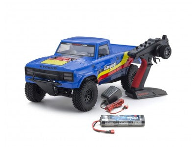KYOSHO 1/10 ELECTRIC OUTLAW RAMPAGE 2WD TRUCK BLUE READY SET KYO-34361T2