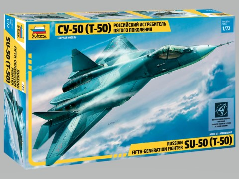 1/72 ZVEZDA SUKHOI T-50 RUSSIAN STEALTH FIGHTER ZV7275