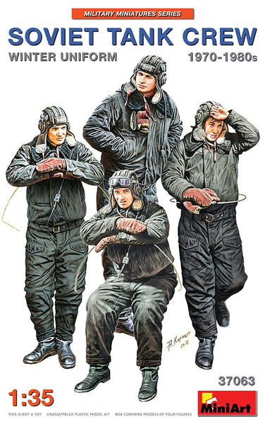 1/35 MINIART SOVIET TANK CREW WINTER UNIFORM 70-80s MA37063