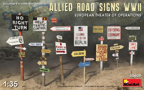 1/35 MINIART ALLIED ROAD SIGNS MA35608
